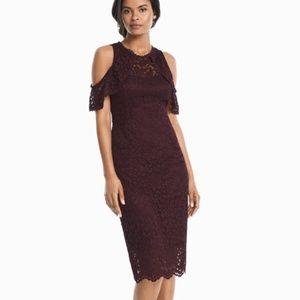 Cold shoulder lace sheath dress size 10